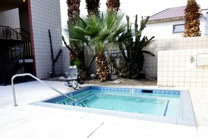 Outdoor Heated Spa Hotels Motels Amenities Newly Remodeled Free WiFi Free Continental Breakfast Royal Plaza Inn Indio CA Reasonable Affordable Rates Amenities Hotels Motels Lodging Accomodations Great Amenities Indio California